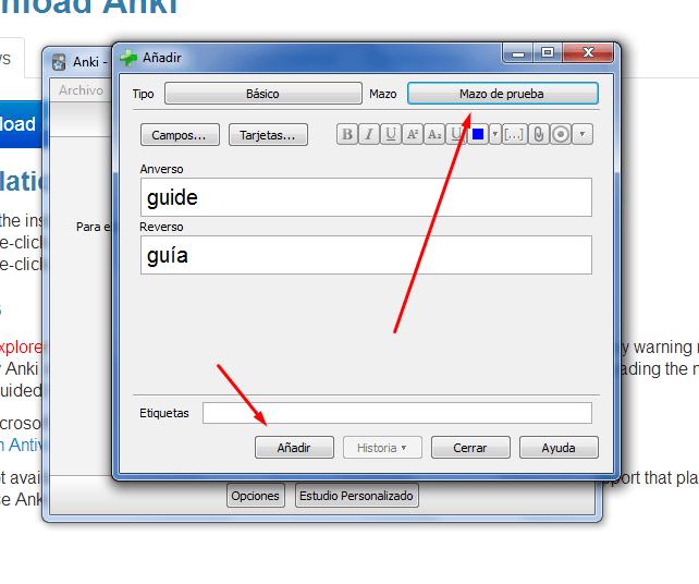 aprender inglés con anki screenshot 04