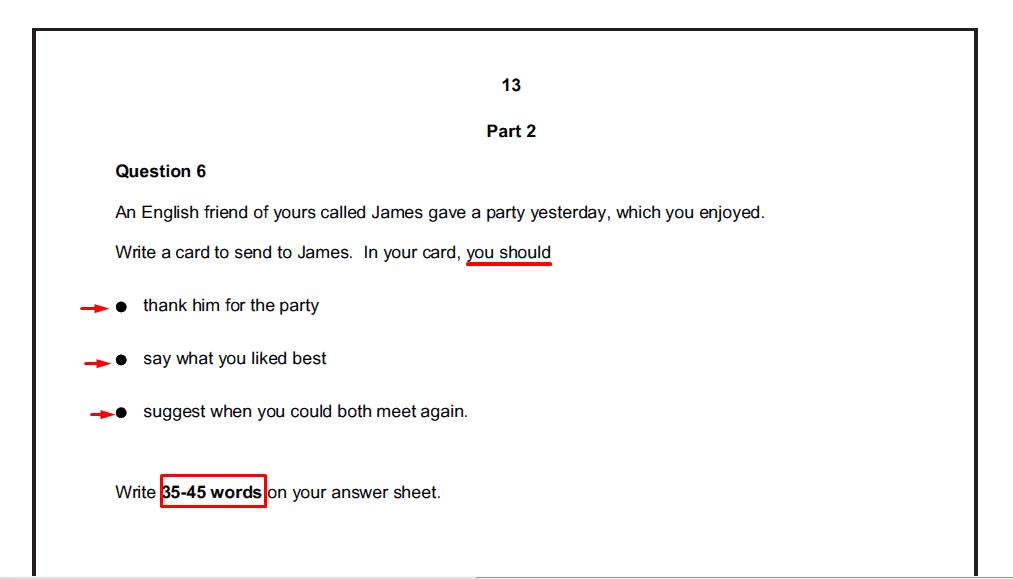 examen de Cambridge - daway inglés - writing part 2